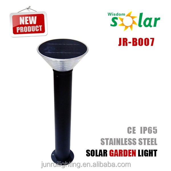 2016 Best seller solar LED bollard lights solar garden lighting LED bollard for landscape lighting JR-B007