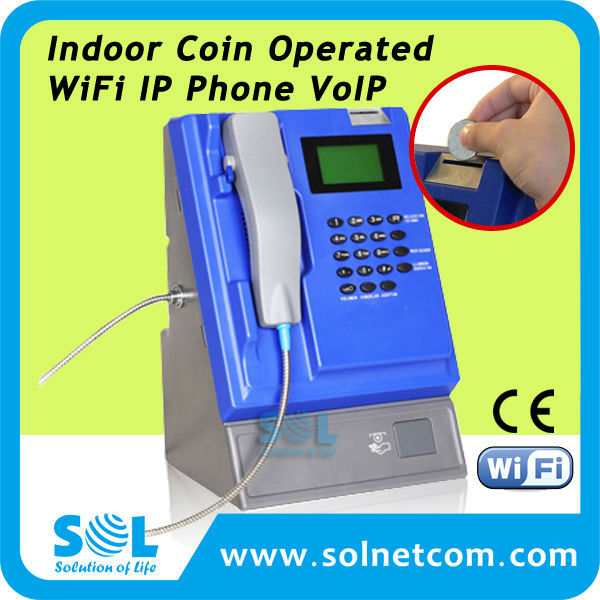 Indoor Coin Operated WiFi IP Phone VoIP