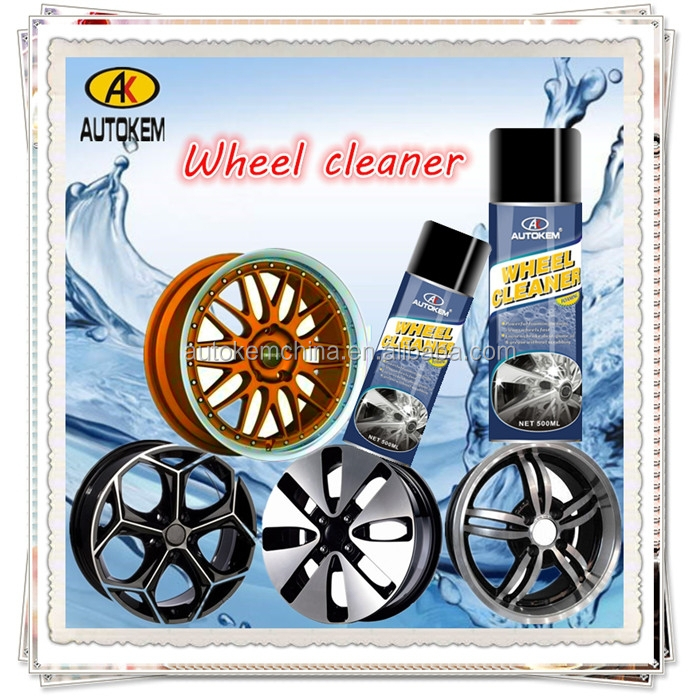Autokem 400ml hot sale alloy wheel cleaner, car wheel rim cleaning spray, car care products