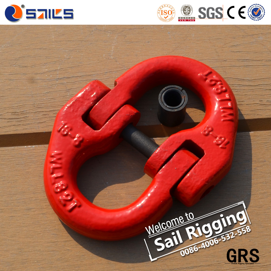 European type forged galvanized chain connecting link
