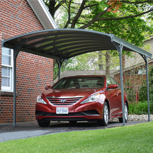 China Supply DIY Aluminum Solar Canopy/Carport With arched roof and solid polycarbonate, strong aluminium frame carport