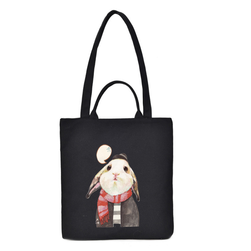 China Supplier full color printing two kinds tote type cotton tote bag
