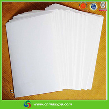 FLY china premium 54um white matte blank a4 printing PP synthetic paper label