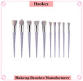 2017 Professioal Hotsale fashional modern 10PCS Diamond with private label unicorn makeup brush set