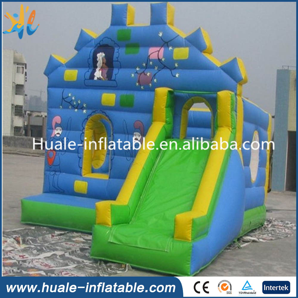 Inflatable princesses slide bouncer, inflatable princesses combo bounce house for kids