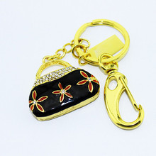 China Hot selling fashion metal pen drive 1tb usb flash drive mini ladies bag jewelery usb stick with metal key ring