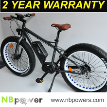 Cruiser fat tyres e bicycle with 8Fun mid drive motor and intelligent LCD panel