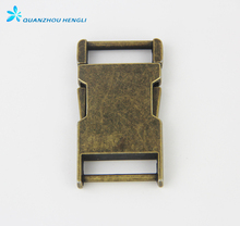 "1"" New Strong Antique Metal Zinc Alloy Side Release Buckle for Backpack Strap"