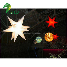 2015 Hot sale LED light inflatable indoor decorations inflatable stars,star rotate light