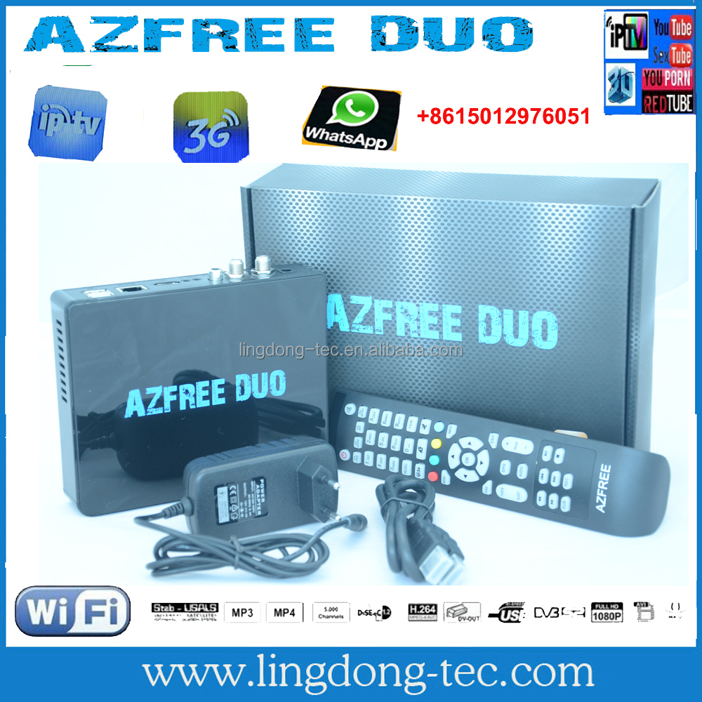 receptor hdsatellite youtbe azamerica s1005 tv receiver Azfree DUO tocomfree with iptv,free iks sks for south america