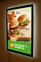 Magnetic crystal led sign display board menu board kfc McDonald's
