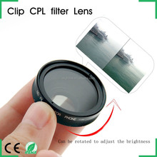 Universal Clip Polariscope Lens HD CPL Professional Filter for All Cellphone