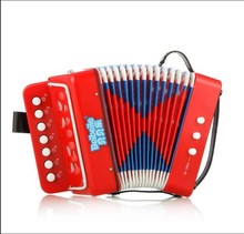7 key 2 bass colourful and classic plastic button accordion manufacturer