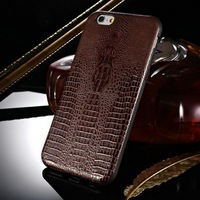 "Crocodile soft phone case for iphone 6 TPU case , 4.7"" flexible alligator pattern TPU phone case , for Apple Iphone TPU case"