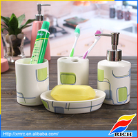 Custom cute bathroom decor sets shower accessories