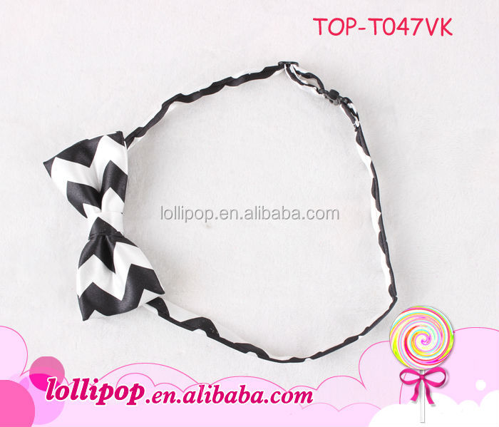 New arrival black white baby mini ribbon kids school uniforms bow ties made in china