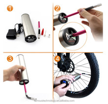 Smart Emergency car tyre air pump bicycle pump adapter Tire Repair Kit with tire sealant and 12 Volt Inflator