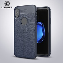 Newest Full Coverage Shockproof Litchi Lichee Pattern Soft TPU Leather PU Back Cover Case For iPhone X 8 7 6 5 Plus