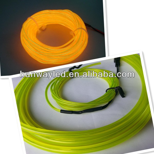 2015 new year hot sale item el wire sewable for clothing decoration/multi color electroluminescent wire