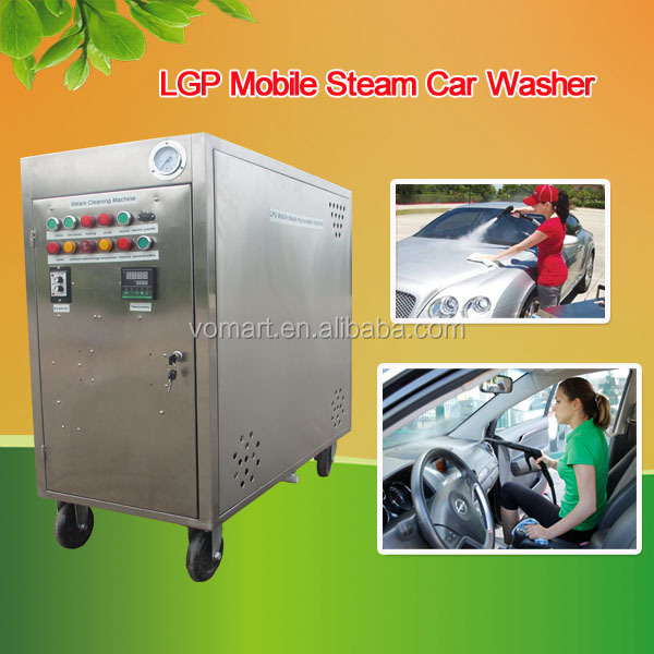new CE 20 bar 2 gun LPG mobile vapor car wash machine/steam solar panel cleaning system