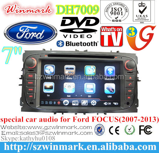7inch double din car audio with GSP Radio Bluetooth TV 3G RDS PiP etc for Ford FOCUS/MONDEO/S-MAX