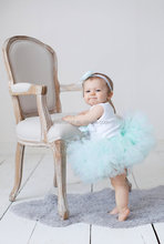 Cute Toddlers Girl Tutu Skirt Baby Fluffy Floral Dresses Chiffon Puffy Evening Dress For Kids
