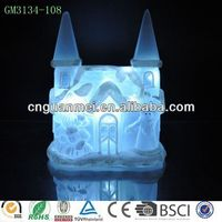 Wholesale lighting white unpainted christmas village houses