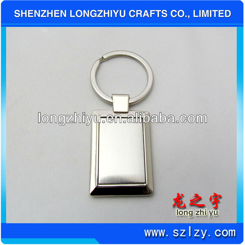 Rectangle acrylic plastic key chain blank keyring for promotions with custom design