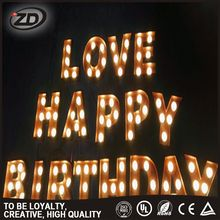 Amazing Quality Customized Color light up love letter signs