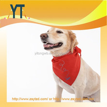 Red Customized Dog Bandana Can Print Yourself Logo