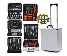 kraftwell werkzeug 399pcs aluminum tool bag set with professional it tool kit