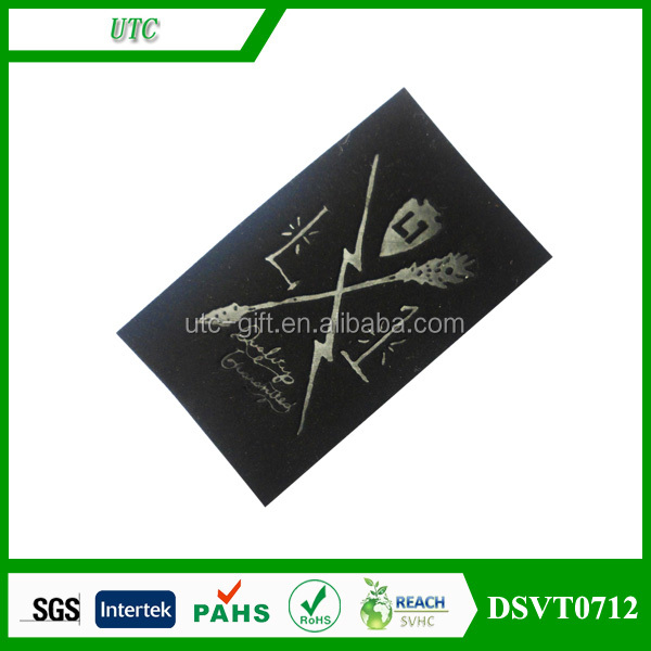 wholesale website printed logo fabric leather patch