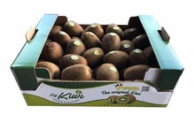 kiwi fruit packaging corrugated box Singel wall fruit shipping box with die cut handles fruits display carton box