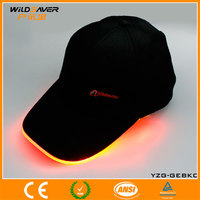 China fashion pure black led lighting cap baseball hat wholesaler