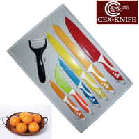 7pcs Ceramic coating knife sets knife type kitchen knife sets