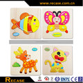 3D animals wooden puzzle jigsaw wood assembling puzzle for kids