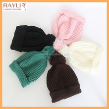 Children cute brand kids Pom Pom winter hat warm knitted pompom beanies hat for boy girl casual skull ski cap bonnet
