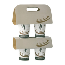 2/4 cups kraft/cardboard paper coffee cup holder/carrier custom