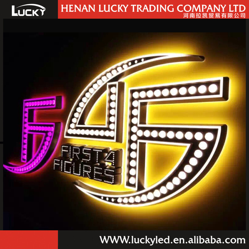 Chinese acrylic led letter logo and other commercial logo
