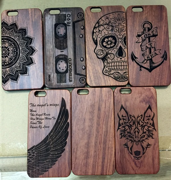 Real wood factory friendly personalized wooden cell phone case for iphone 6, for iPhone 7 wooden case bamboo