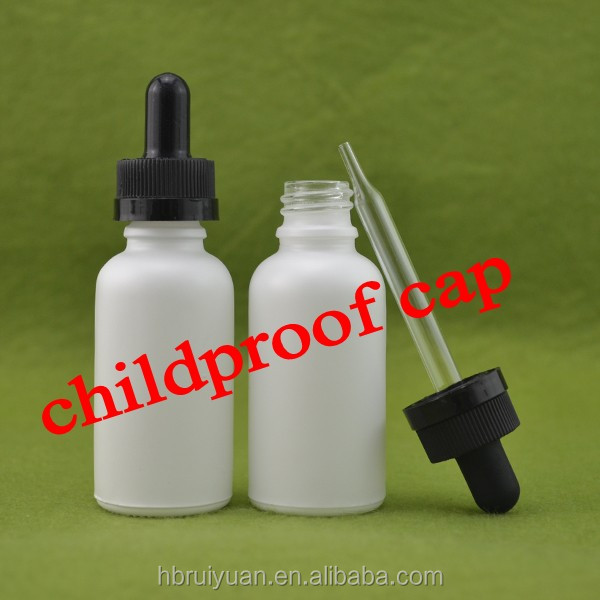 white frosted/matte 30ml glass dropper bottles with childproof dropper for e-juice 10ml/30ml dropper black glass ---Stock