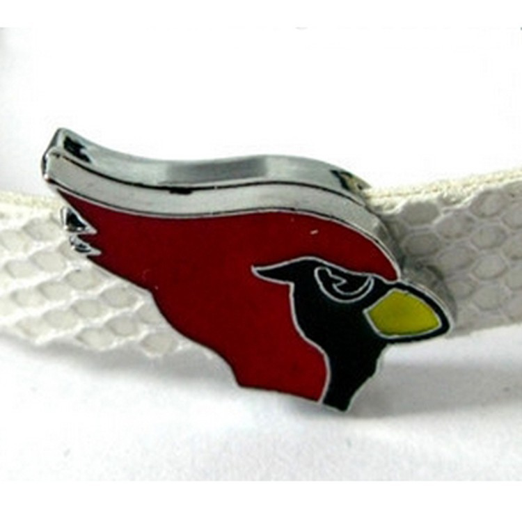 Alloy Cardinals Sports Slide Charms Fit To 8mm Wristbands