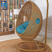 Outdoor Furniture Patio Swing Wicker / Rattan Swing /Outdoor Rattan Adult Hanging Egg Swing Chair