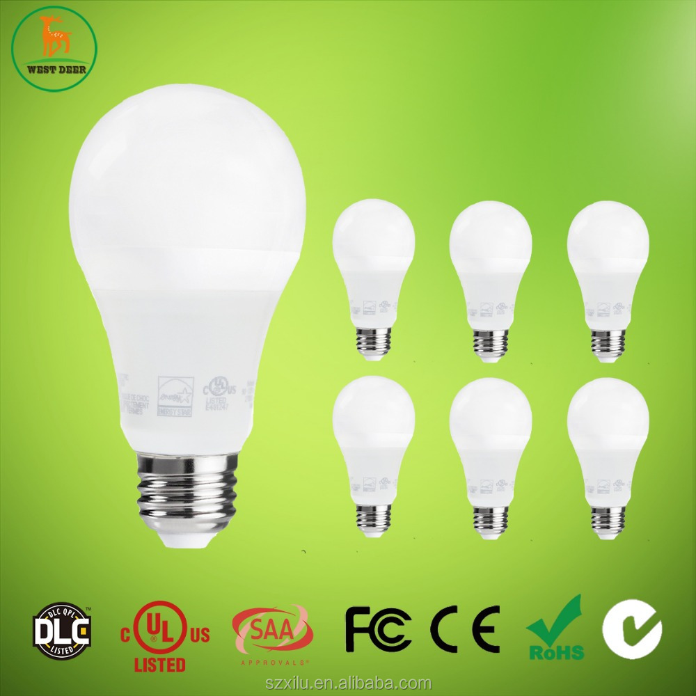 China supplier 9.5w A19 led lamp for the house with energy star listed