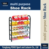 SR00285 Sell well outdoor plastic folding 5 floor shoe rack
