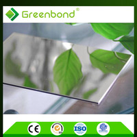 Greenbond mirror finish cheap aluminium facade wall panel