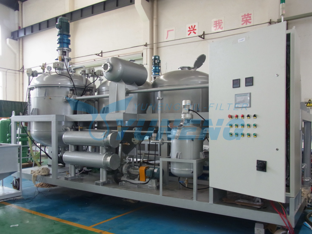 High Recycling Rate Used Oil Recycling Machine Change Color to Yellow
