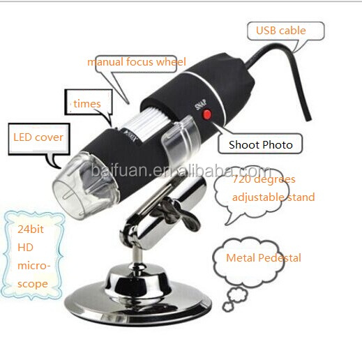 500x monocular usb microscope with measure software