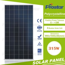 High quality poly crystallsolar module/solar panel 315w price per watt solar panel
