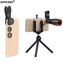 amazon top seller 2017 apexel mobile phone ultra zoom lens 12x telephoto lens kit with tripod for iPhone